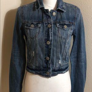 American Eagle jean jacket small petite